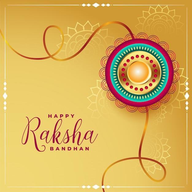 Szczęśliwy Raksha Bandhan Eithnic Pozdrowienia Tło Darmowych Wektorów