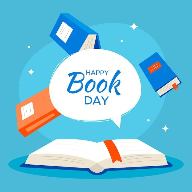 Szczęśliwy światowy Dzień Książki Darmowych Wektorów