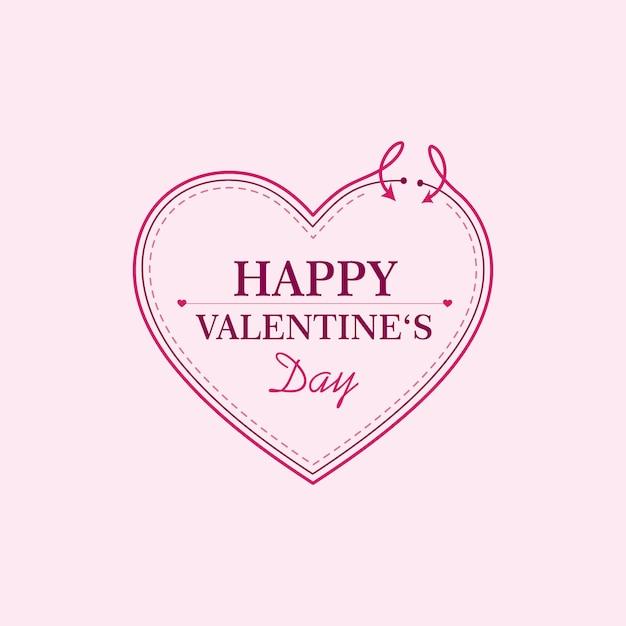 Szczęśliwy Szablon Walentynki Premium Wektorów