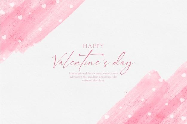 Szczęśliwy Tło Akwarela Walentynki Darmowych Wektorów