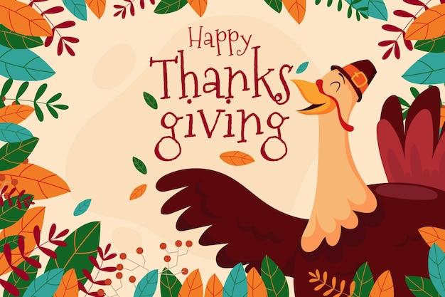 Szczęśliwy Tło Dziękczynienia Indyka Darmowych Wektorów