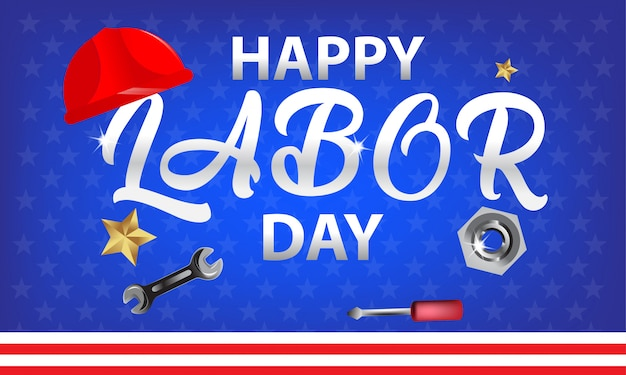 Szczęśliwy Tło Dzień Pracy. Premium Wektorów