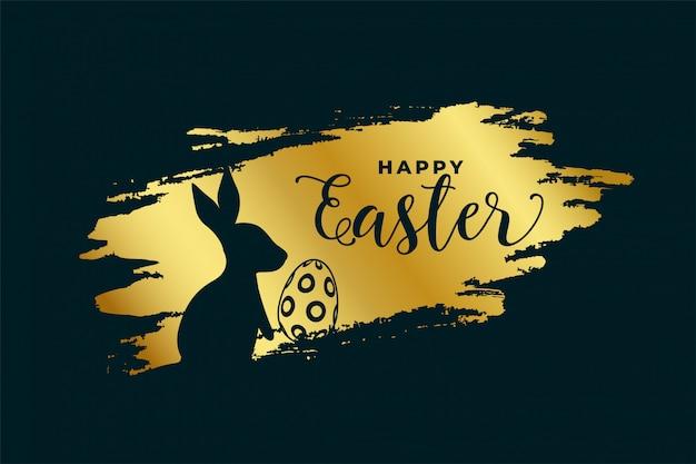 Szczęśliwy Tło Wielkanoc Festiwal W Złotym Temacie Darmowych Wektorów