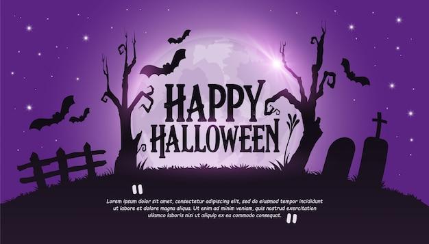 Szczęśliwy Transparent Halloween Premium Wektorów