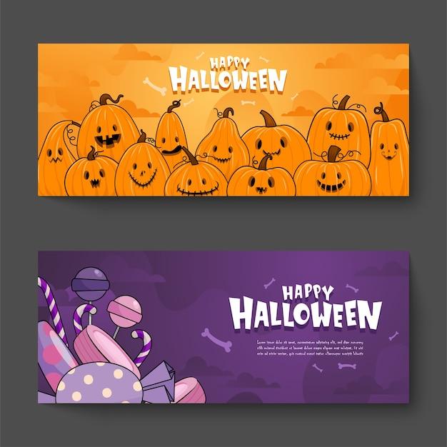 Szczęśliwy Transparent Uroczystości Halloween Darmowych Wektorów