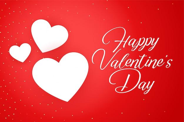 Szczęśliwy Walentynki Celebracja Karta Z Pozdrow Darmowych Wektorów