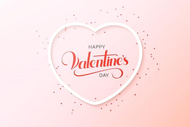 Szczęśliwy Walentynki Pozdrowienia Projekt Karty Z Papieru Wyciąć Czerwone Serce Kształt Balonów Na Ogrzane Powietrze Latające I Serca W Kolorze Białym. Ilustracja. Premium Wektorów