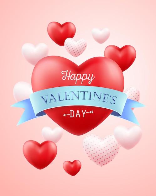 Szczęśliwych Walentynek Ilustracja. Premium Wektorów
