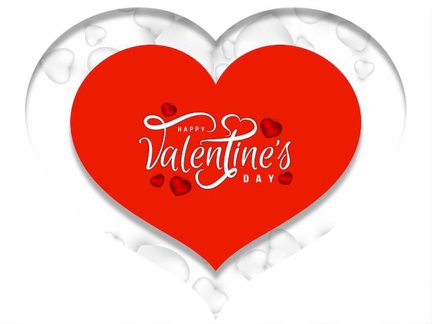 Szczęśliwych Walentynek Tło Serca Stylu Papercut Darmowych Wektorów