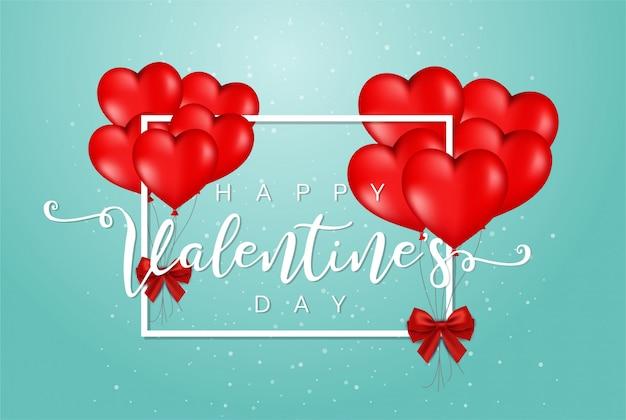 Szczęśliwych Walentynek Tło Uroczysty Premium Wektorów