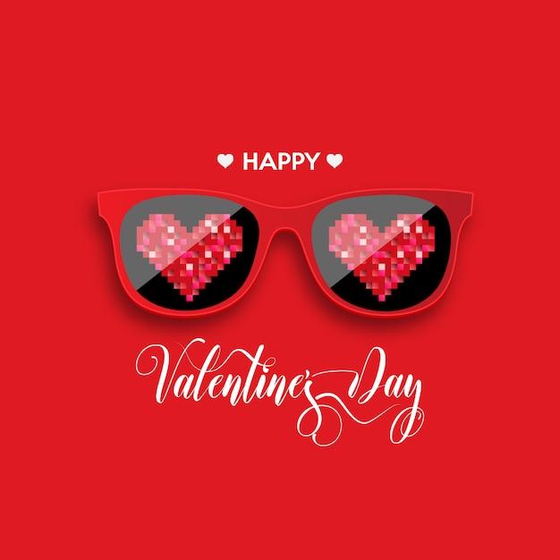 Szczęśliwych Walentynek. Premium Wektorów