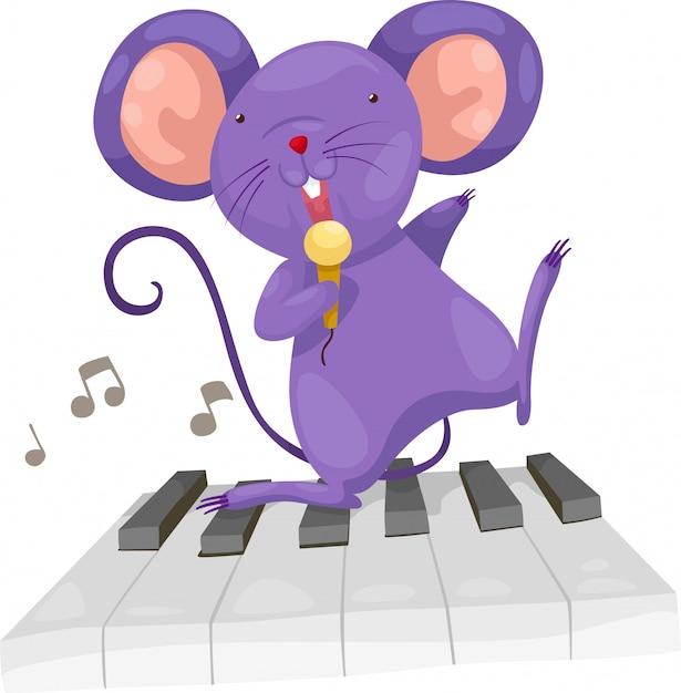 Szczur śpiewać wektor Premium Wektorów