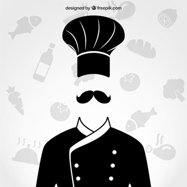 Szef kuchni jednolite Darmowych Wektorów