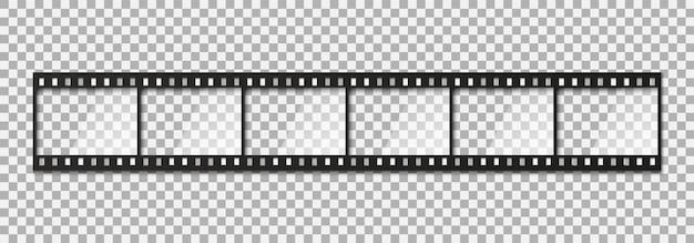 Sześć klatek klasycznej taśmy filmowej 35 mm. Premium Wektorów