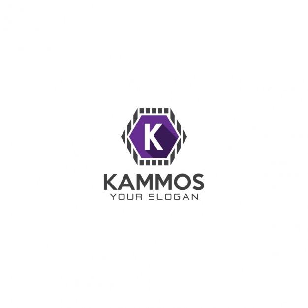 Sześciokątne Litera K Logo Darmowych Wektorów