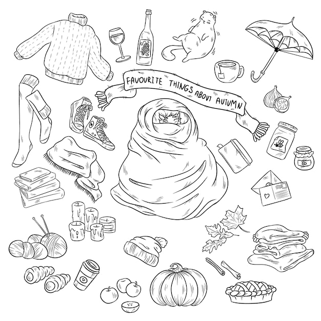Szkicowy Wektor Ręcznie Rysowane Doodle Kreskówka Premium Wektorów