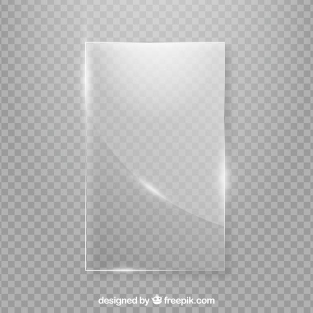 Szklana ramka w realistycznym stylu Darmowych Wektorów