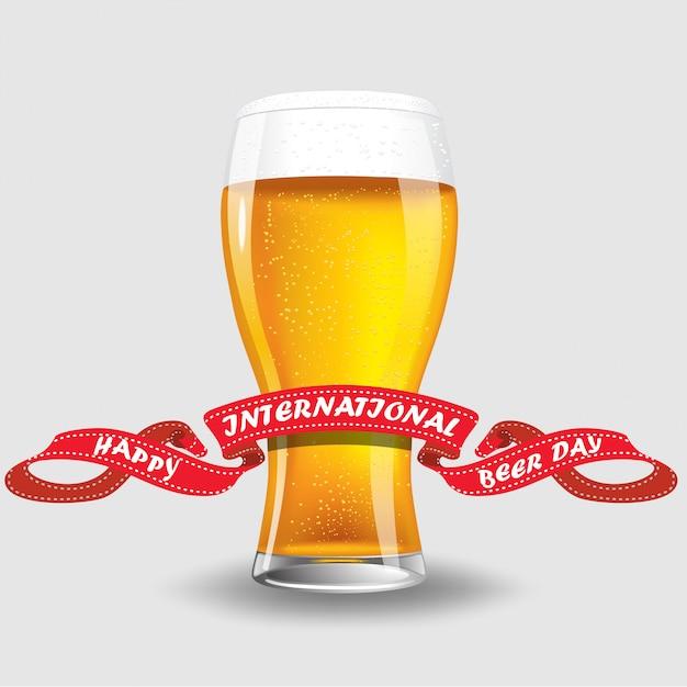Szklanka Piwa Na Białym Tle Premium Wektorów