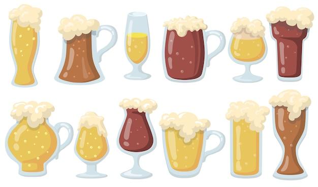 Szklanki Piwa Darmowych Wektorów