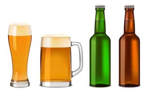 Szkło do butelek piwa Premium Wektorów