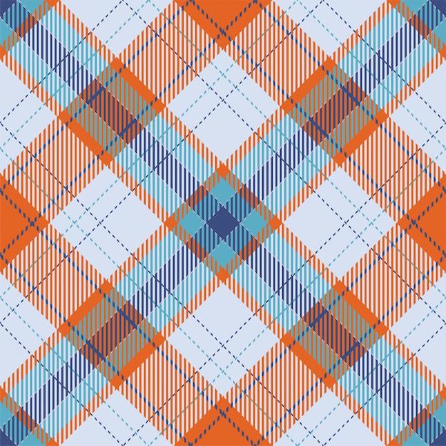 Szkocka Krata Szkocka Bez Szwu Wzór. Tkanina Retro. Kolor Vintage Kwadratowy Geometryczny Wzór. Premium Wektorów