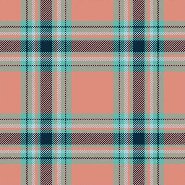 Szkocka Krata Szkocka Bez Szwu Wzór. Tkanina Retro. Vintage Wyboru Koloru Kwadratowa Geometryczna Tekstura. Premium Wektorów