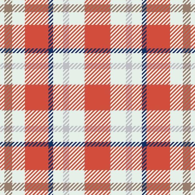 Szkocka Krata Szkocka Bezszwowa Tkanina W Kratkę Wzór Tła, Kwadratowa Geometryczna Tekstura W Kratkę Vintage, Premium Wektorów