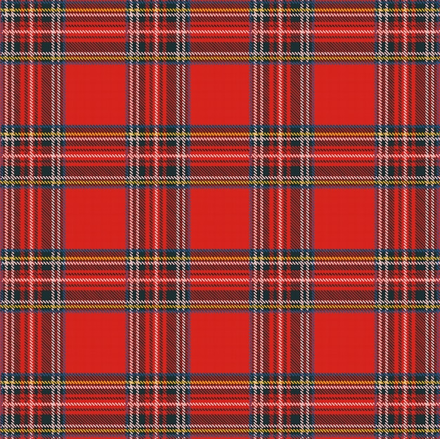 Szkocka Krata Wzór Tła Z Tekstury Tkaniny Premium Wektorów