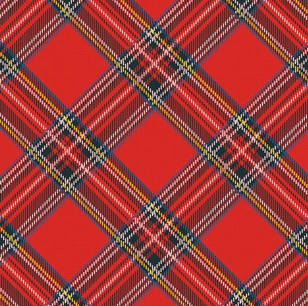 Szkocką kratę wektor wzór tła z tekstura tkanina Premium Wektorów