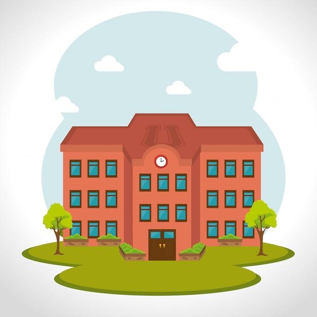 Szkolna tradycyjna edukacja Premium Wektorów