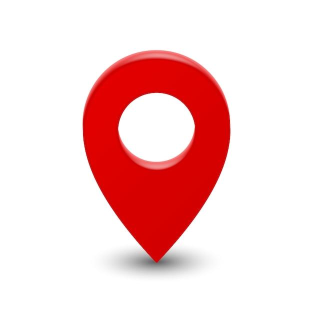 Szpilka Wskaźnika Mapy 3d Premium Wektorów
