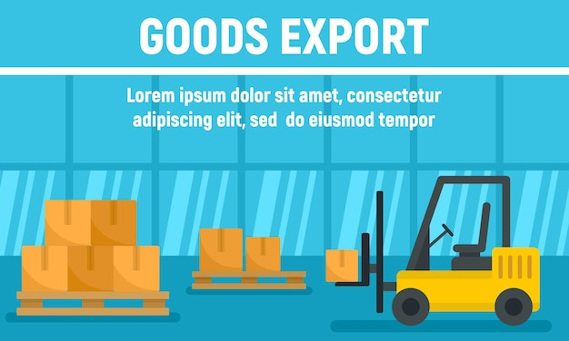 Sztandar Koncepcja Eksportu Towarów Transparent Premium Wektorów