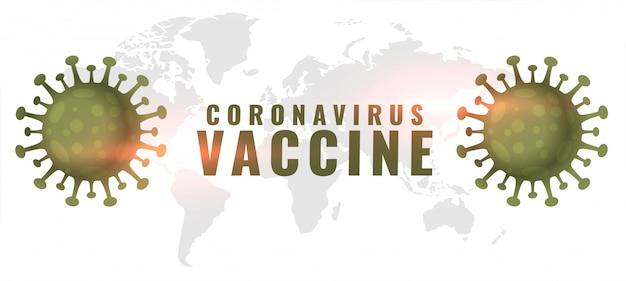 Sztandar Koncepcji Szczepionki Koronawirusa Z Dwiema Komórkami Wirusa Darmowych Wektorów