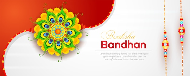 Sztandar raksha bandhan Premium Wektorów