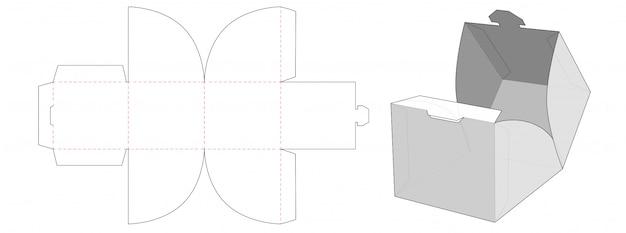 Sztaplowane Pudełko Do Pakowania Sztancowane Szablon Premium Wektorów
