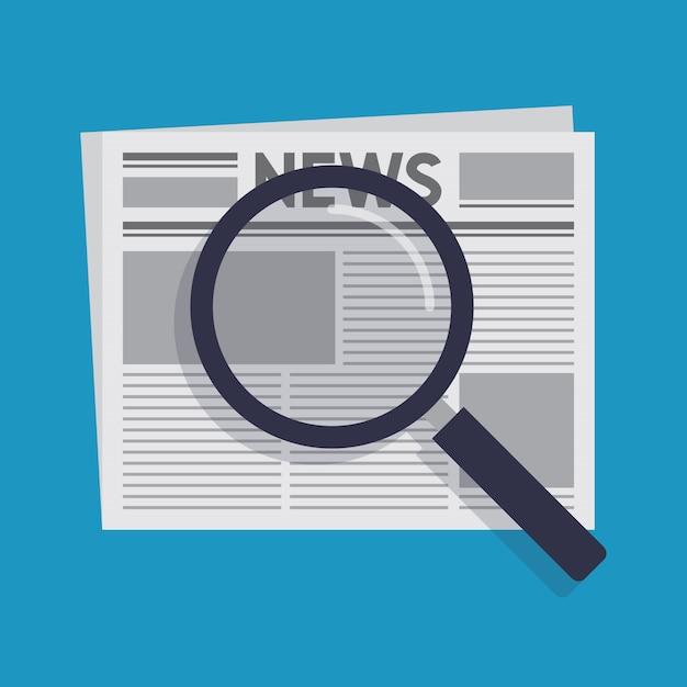 Szukaj wiadomości płaski kształt ilustracji wektorowych Premium Wektorów