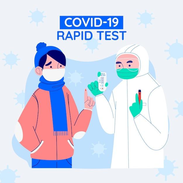 Szybki Test Covid-19 Darmowych Wektorów