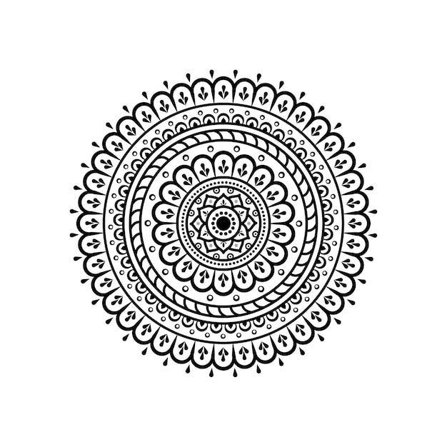 Szyk kołowy w formie mandali Premium Wektorów