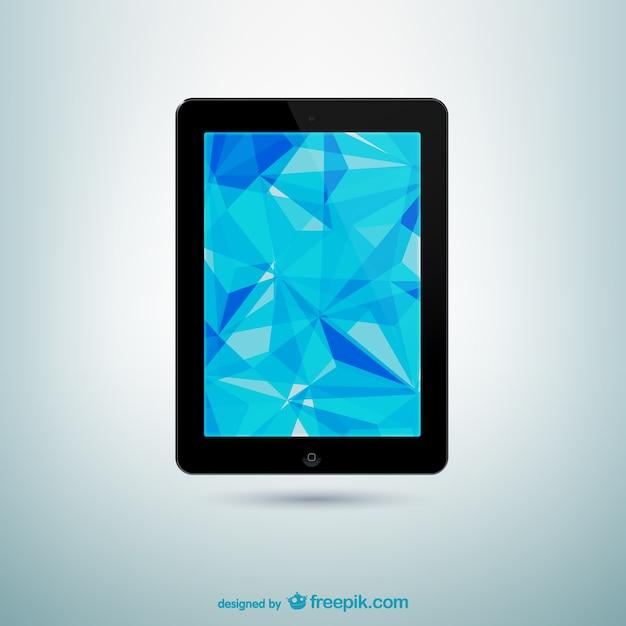 Tablet Z Ekranie Abstrakcyjny Darmowych Wektorów