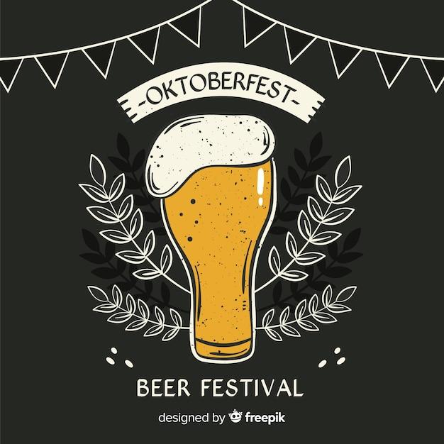 Tablica Piwa Oktoberfest Z Pianką Darmowych Wektorów