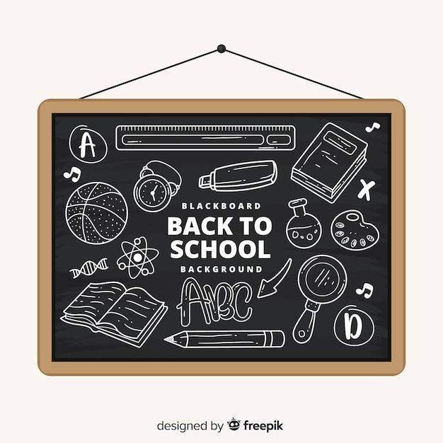 Tablica z powrotem do szkoły Darmowych Wektorów