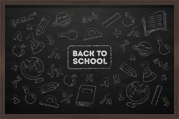 Tablica Z Powrotem Do Tła Szkoły Darmowych Wektorów