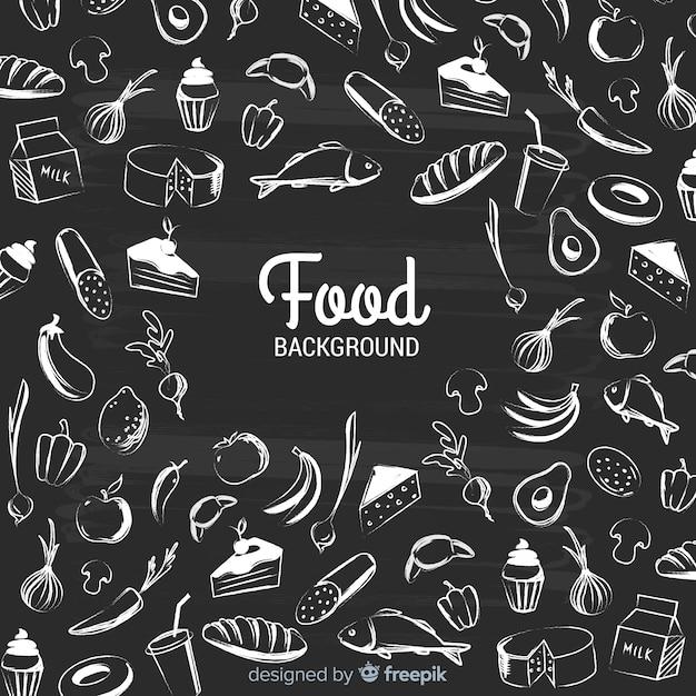 Tablica żywności tło Darmowych Wektorów