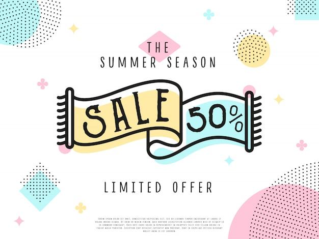 Tag sprzedaży w ofercie specjalnej Premium Wektorów
