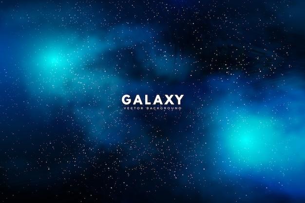 Tajemniczy Galaktyki Tło W Zielonym Brzmieniu Darmowych Wektorów