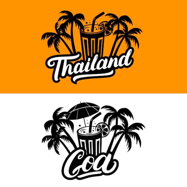 Tajlandia i goa odręczny tekst Premium Wektorów