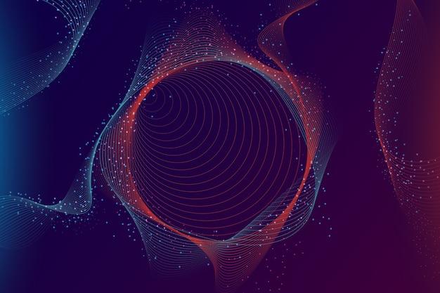 Tapeta kolorowe cząsteczki gradientu Darmowych Wektorów