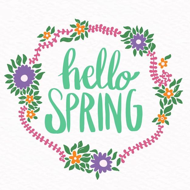 Tapeta Kwiatowy Witaj Wiosna Darmowych Wektorów