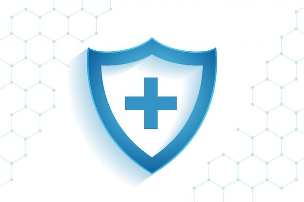 Tarcza Opieki Zdrowotnej Medycznych Na Tle Ochrony Przed Wirusami Darmowych Wektorów