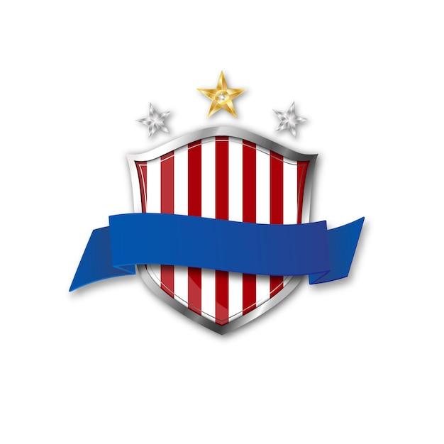 Tarcza Z Flagą Usa Premium Wektorów